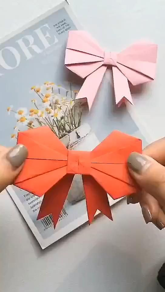 Photo of Bow Origami Tutorial.