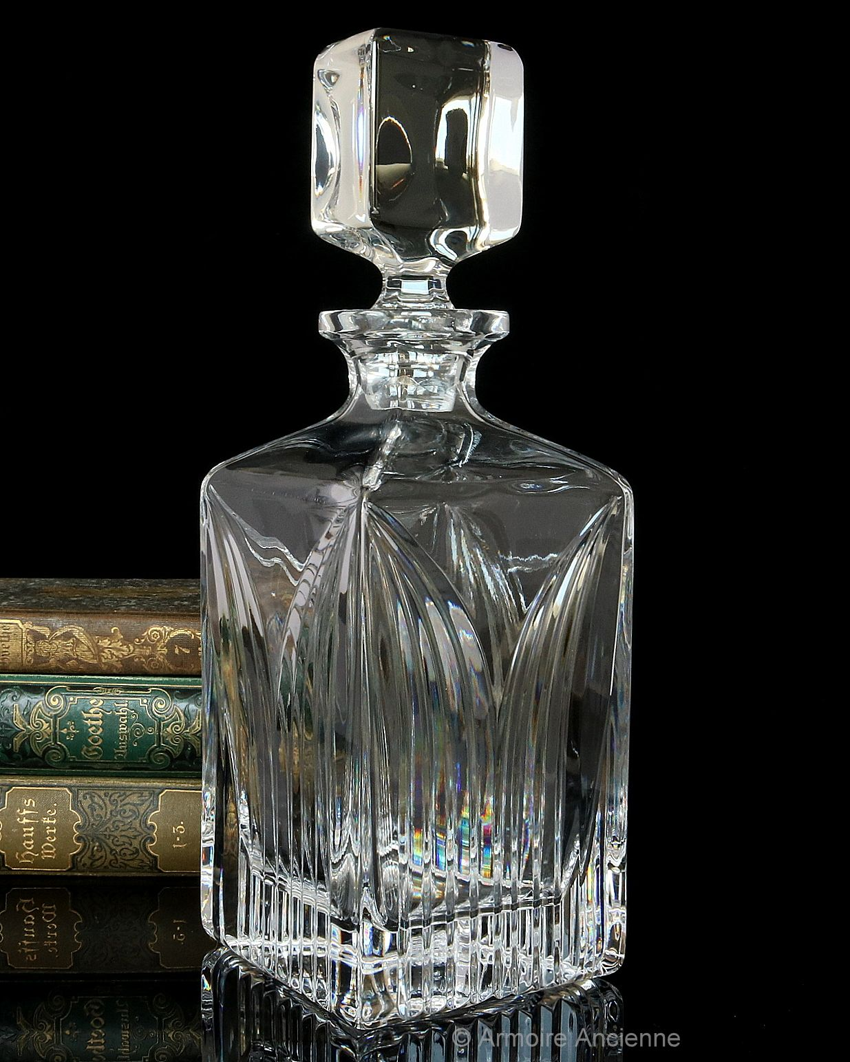 3 5 Lbs Crystal Decanter For Whiskey Cognac Bourbon Square Bar