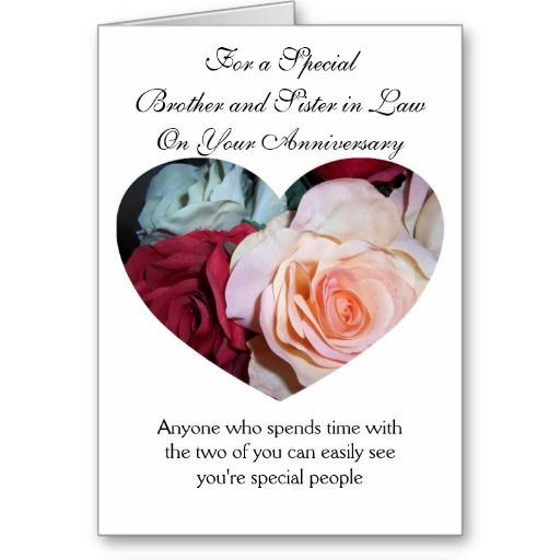 Roses Brother And Wife Wedding Anniversary Card Zazzle Com Wedding Anniversary Cards Wedding Anniversary Anniversary Cards