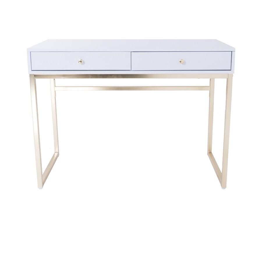 White And Gold Dressing Table