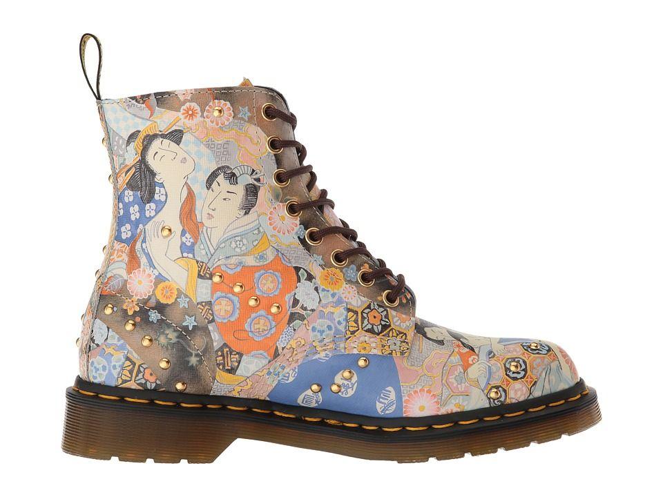 6204c1998641d6 Dr. Martens 1460 Pascal Eastern Art Women s Boots Oriental Backhand Straw  Grain