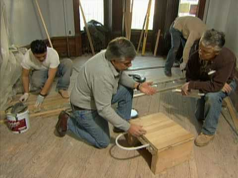 How To Install Radiant Heat Under A Solid Wood Floor This