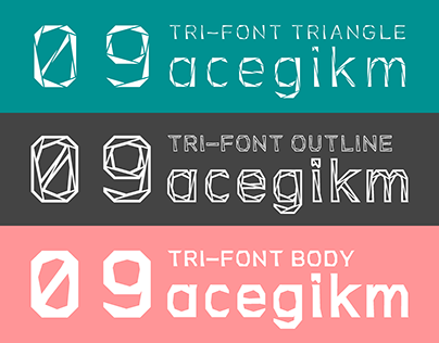 """Check out new work on my @Behance portfolio: """"Tri-Font"""" http://be.net/gallery/41367911/Tri-Font"""