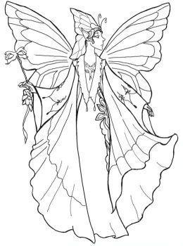 Reine des elfes | Modèles Pergamano | Pinterest | Fairy, Coloring ...