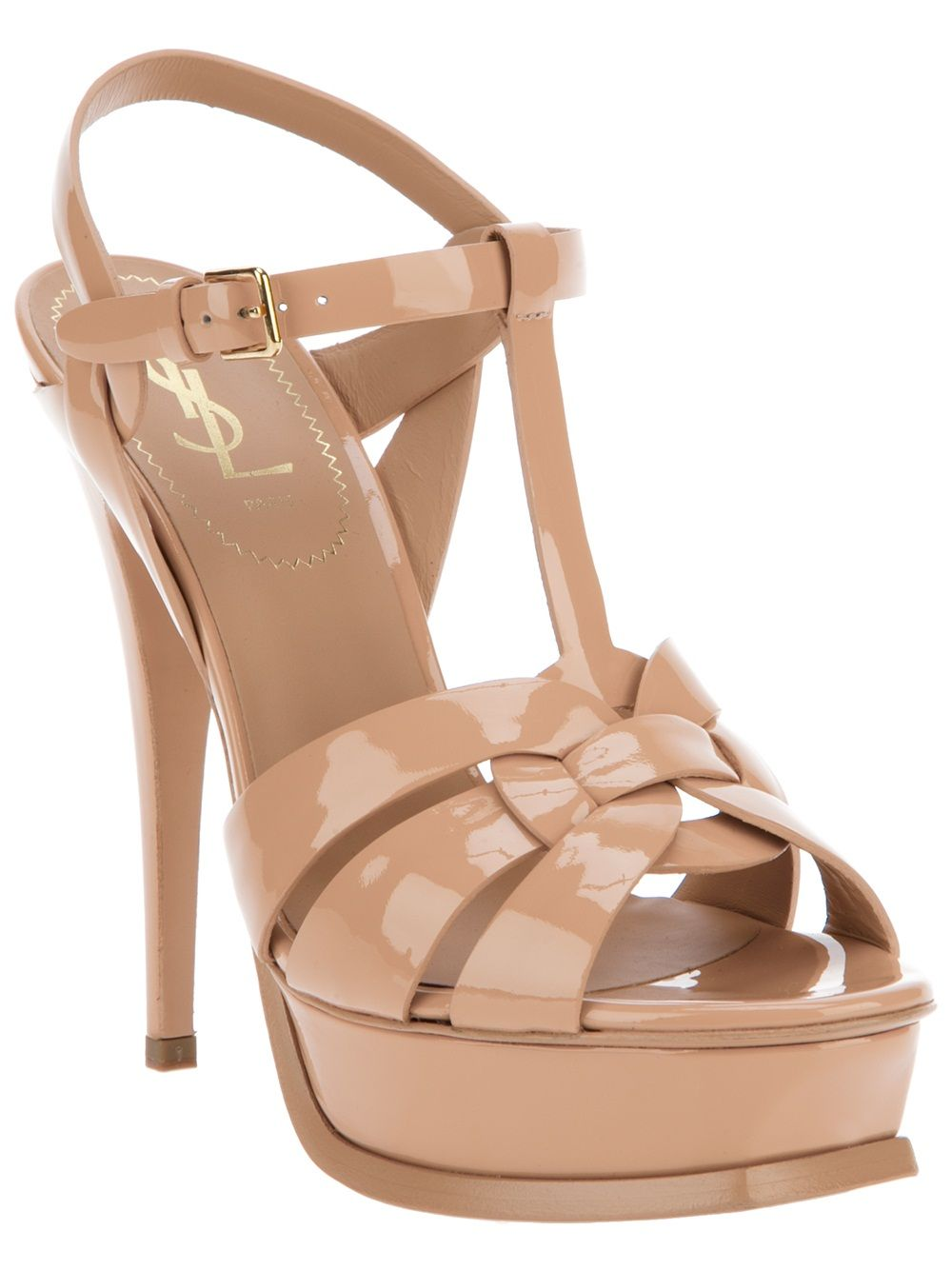 f0c3b944157 YSL Patent Leather Tribute Sandal | Shoes I Love | Shoes, Strappy ...