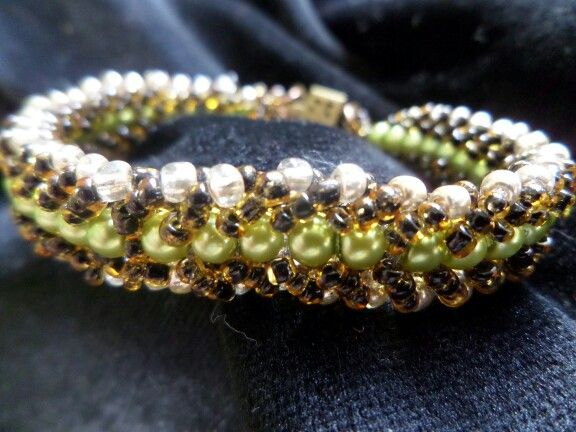 Just love working with glass pearls!