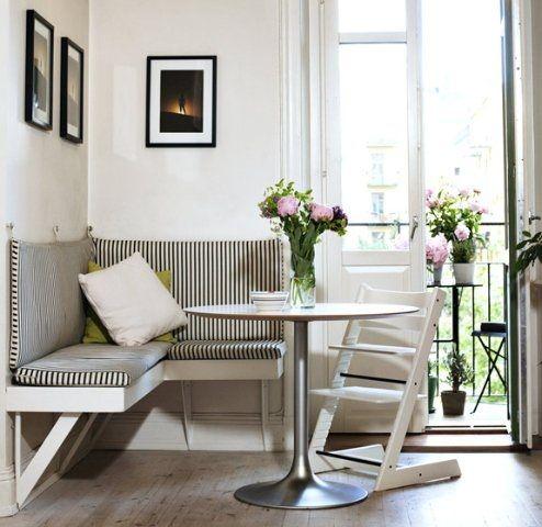 Bancos esquineros para la cocina7 | casa | Pinterest | Banco ...