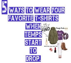 5 Ways to Wear Your Fave Tees When Temps Start to Drop  Jackets, sweaters and scarves can't hide the awesomeness of your fave graphic tees.