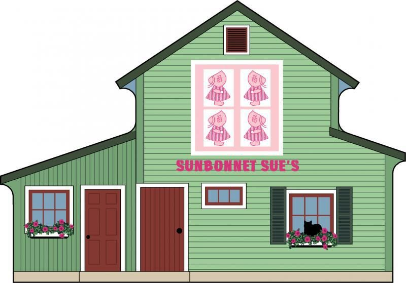 Candabean Collectibles  - Cat's Meow Village Sunbonnet Sue's Quilt Barn