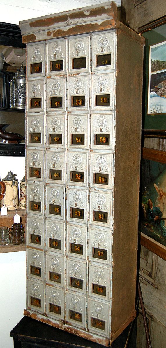 Superieur Antique Post Office Boxes Archetectural By RememberWhenShoppe