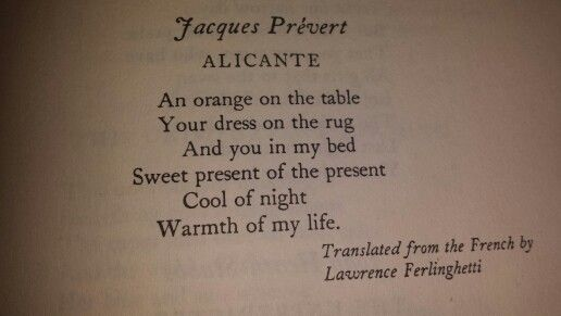 Alicante By Jacques Prevert French Poems Poetry