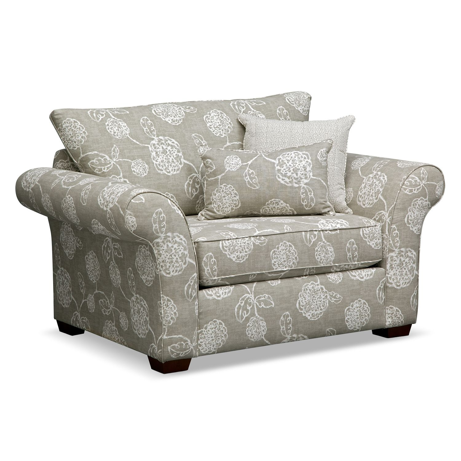 Captivating Loooooove This As An Accent Piece Adele Upholstery Chair And A Half   Value  City Furniture