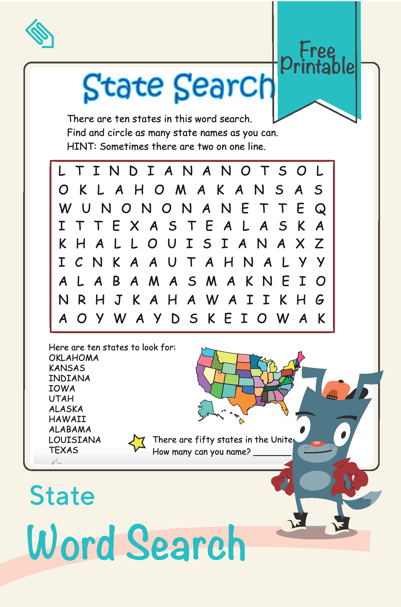 State Word Search