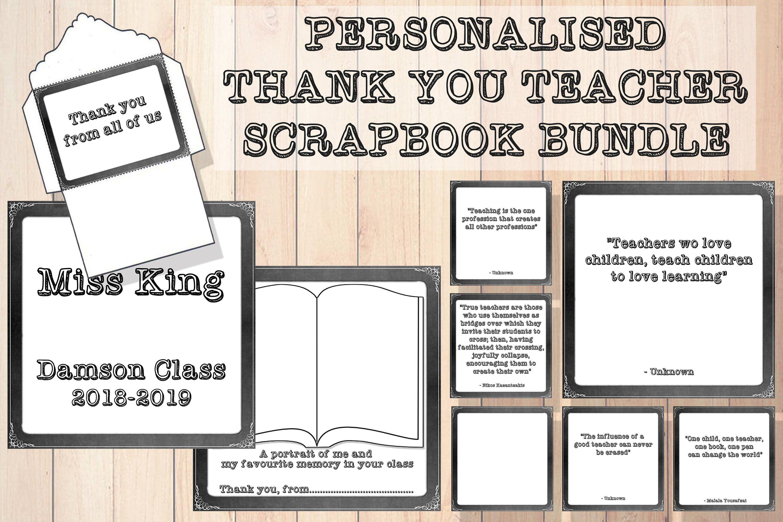 Personalised Note Pad Note Book Teacher Teaching Assistant Nursery gift