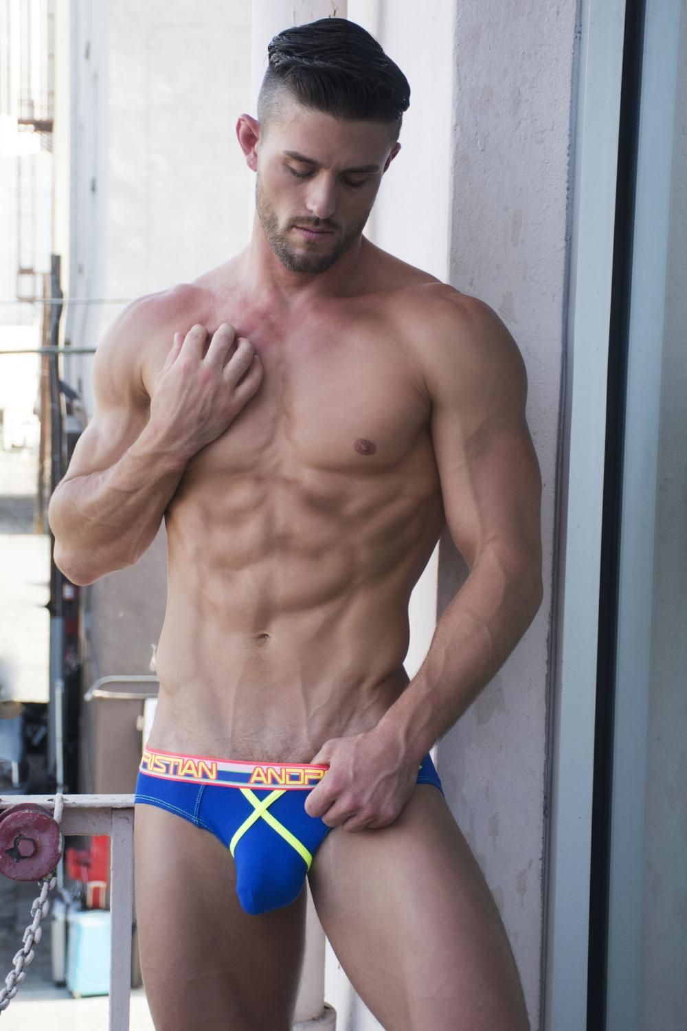 345a2df7c5 underwearnewsbriefs: Andrew Christian 9865 Almost Naked Dare Brief, Royal  Blue, Model, Ryan