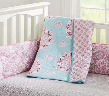 Girl Nursery Bedding, Brooklyn Crib Bedding