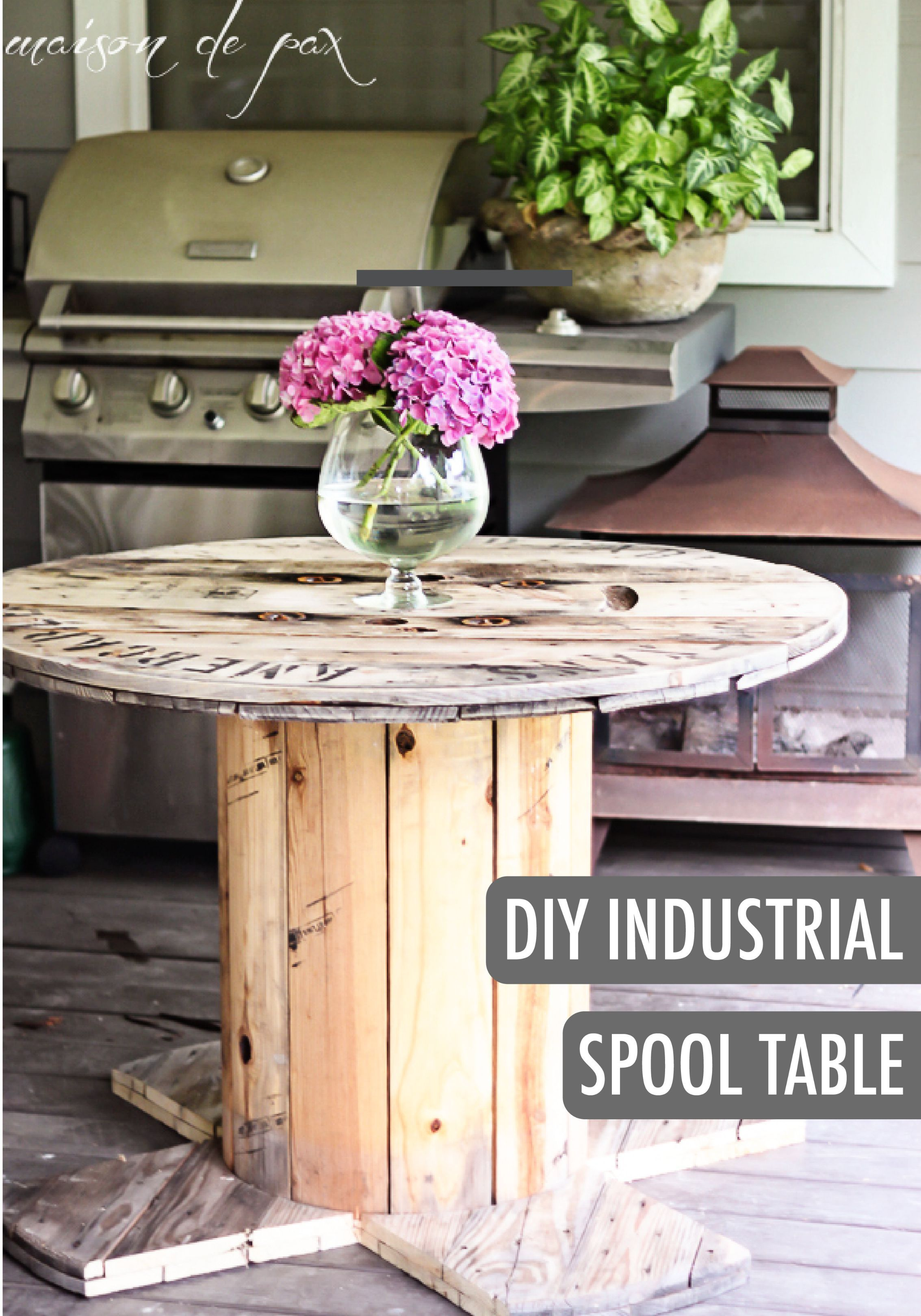 exciting cable spool kitchen table | DIY Industrial Spool Table | Spool tables, Diy table, Wire ...