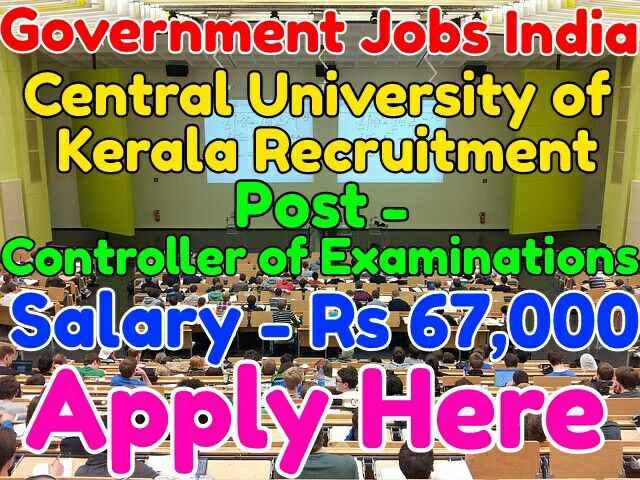 Central University Of Kerala Recruitment Notification 2017 Post