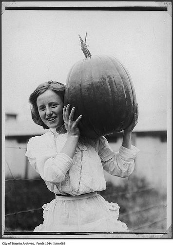 Girl with pumpkin from Tretheway farm | Flickr - Photo Sharing! - 1909