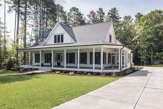 Southern Living farmhouse revival plan no 1821 Black and White Farmhouse by Garmen Olivia
