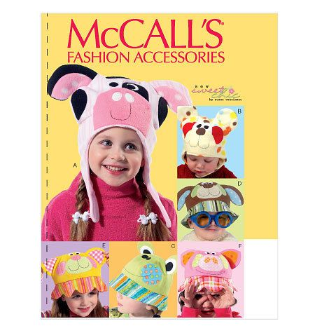 """CHILDREN'S HATS Pattern by McCall's 6616 Head Size 20-21 1/2"""" TLC's Treasures https://www.etsy.com/listing/198016190/childrens-hats-pattern-by-mccalls-6616?ref=shop_home_active_1"""