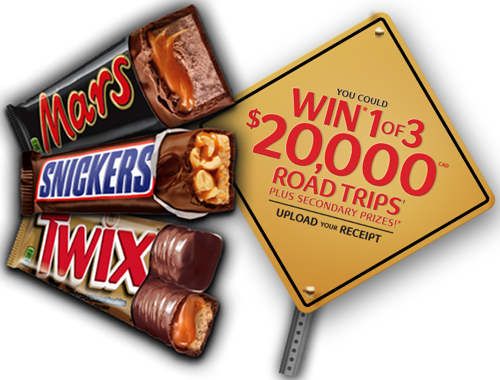 Mars Bars It's the Mars Road Trip Contest and you could win