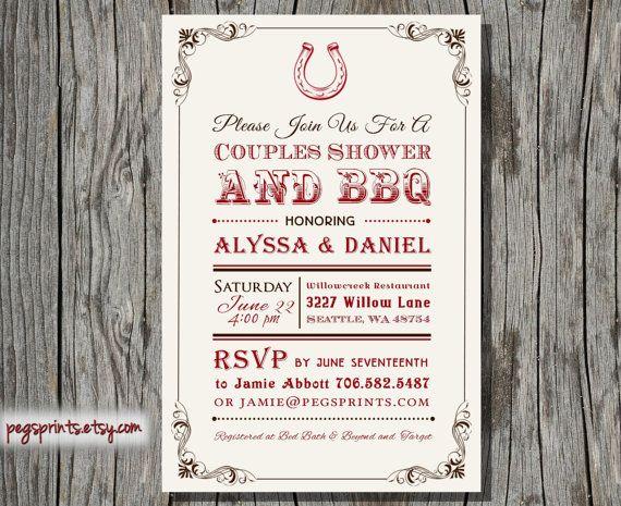 Backyard Bbq Wedding Invitations: I Do BBQ Couples Shower Invitation // Printable Backyard