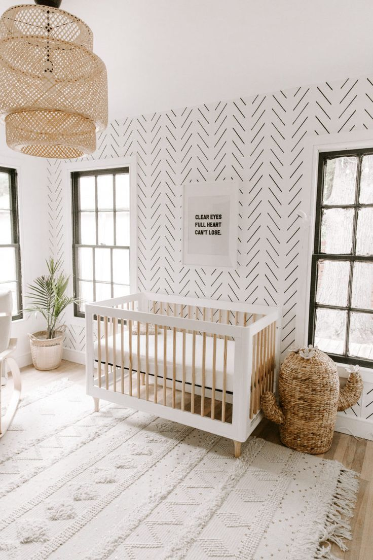 Minimal Boho Nursery #minimalbedroom