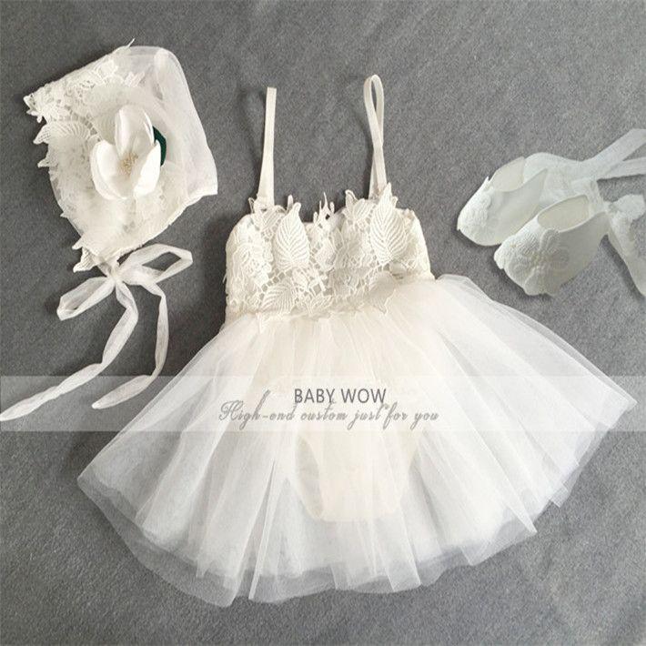 Princess neugeborenen kleidung mädchen kleid + hut + schuhe kleidung ...