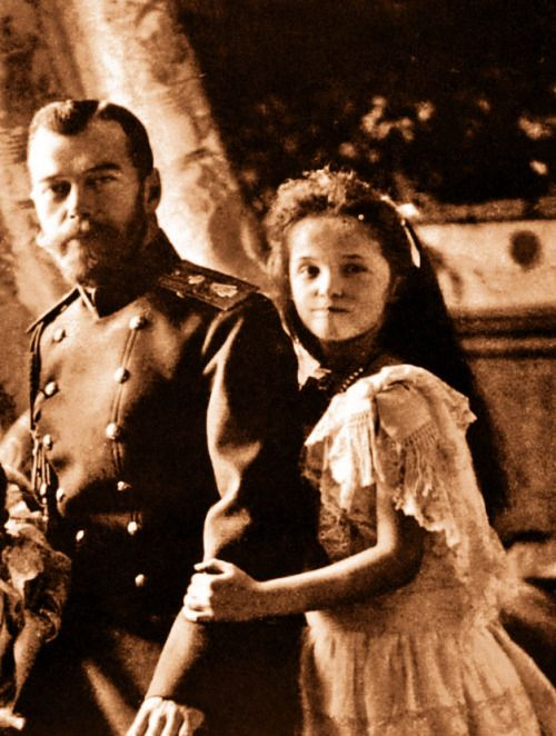 Tsar Nicholas Ii Of Russia With Olga In 1904 With Images