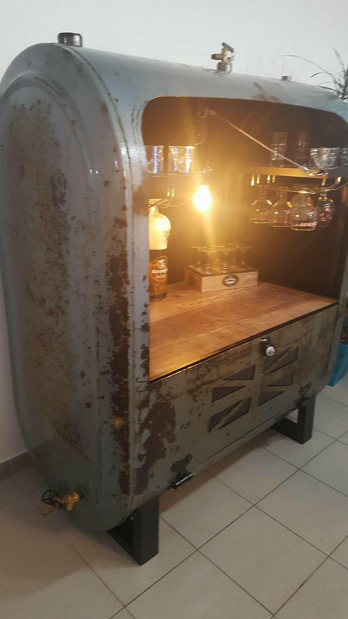 Créations d\'un bahut/bar style industriel cuve à fuel deco | Mes ...