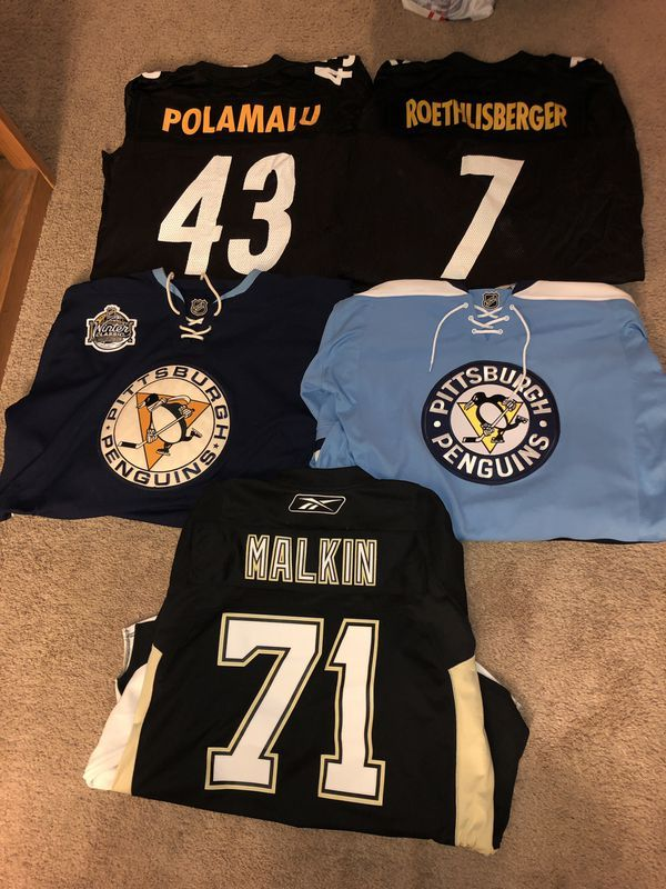best loved c91fa 06369 Pittsburgh Penguins and Steelers Authentic Jerseys for Sale ...