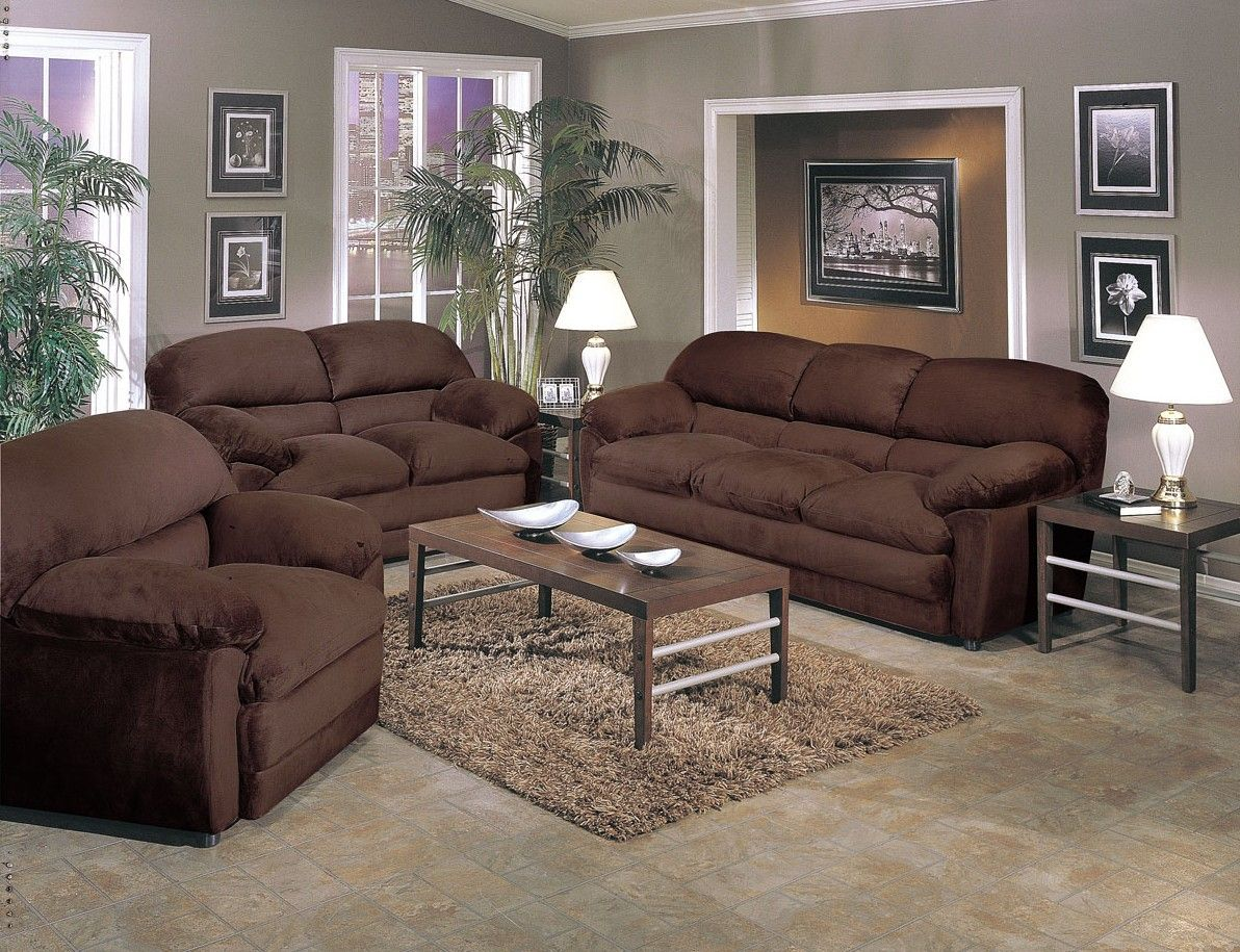 Lovely Chocolate Brown Living Room Ideas With Decorating Furniture Home Designs