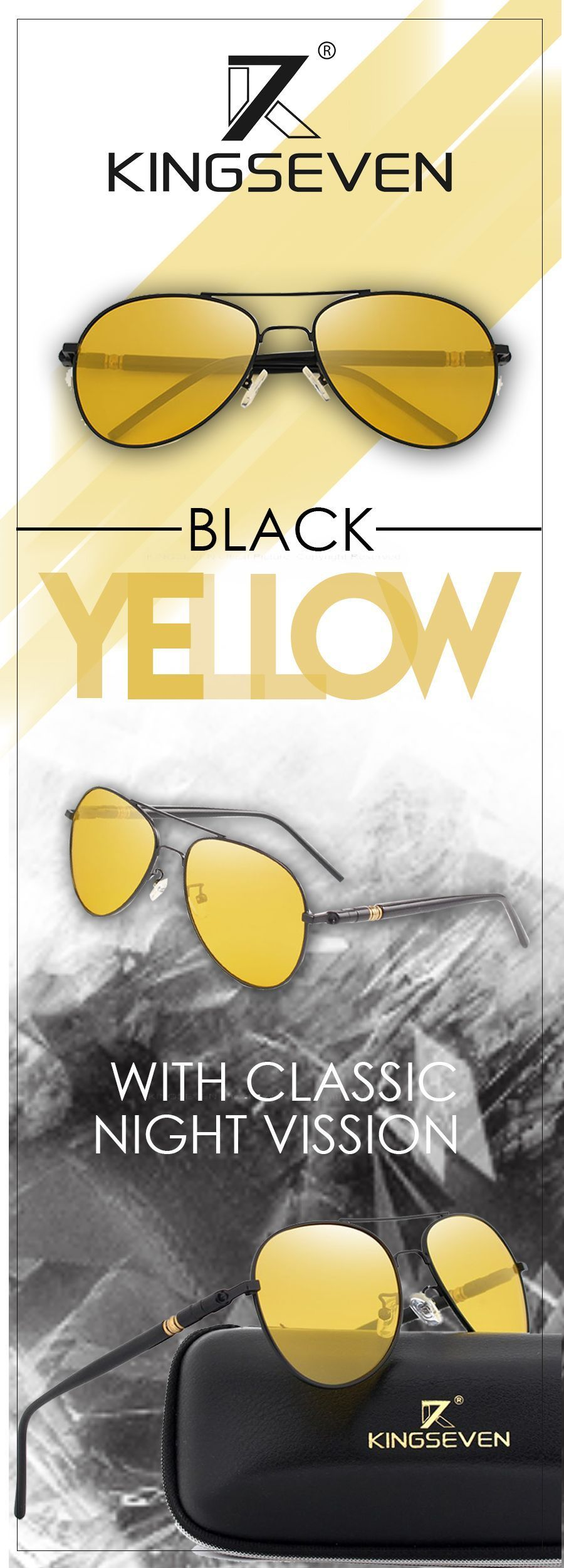 Menus polarized night driving sunglasses kingseven designer