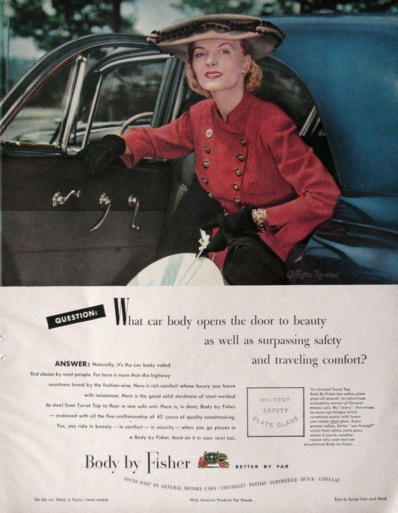 1948 Gm Body By Fisher Ad 1940s Women S Fashions General