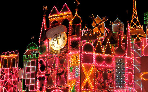 Disneyland Small World Colorful Christmas Lighting Holiday Wallpapers Free Download Wallpapers Windows Xp D Disneyland Christmas Small World World Pictures