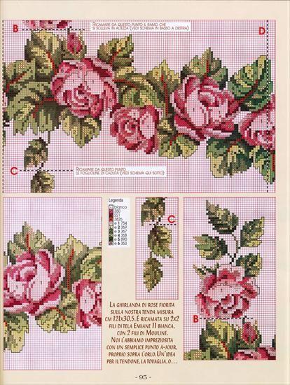 Motywy Obrusy Serwety Narozniki Izyda55 Chomikuj Pl Cross Stitch Flowers Cross Stitch Rose Holiday Crochet Patterns