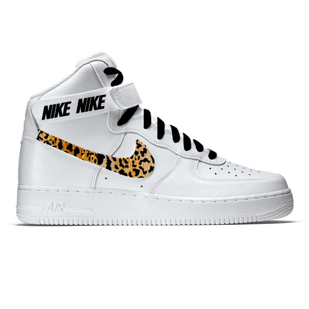 buy popular ee36e 4e64b NIKE AIR FORCE 1 07 - CUSTOM CHEETAH LEOPARD PRINT SWOOSH BY LUCKIE CUSTOMS  - Visit our website for more information!