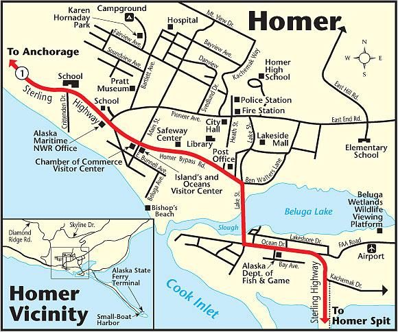 Homer Map | HOMER, ALASKA | Pinterest | Homer alaska, Alaska and Map