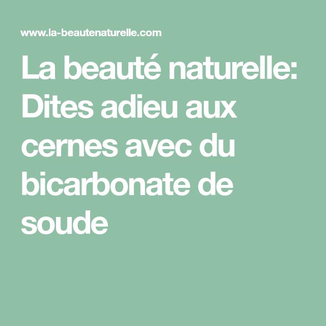 La beauté naturelle: Dites adieu aux cernes avec du bicarbonate de soude