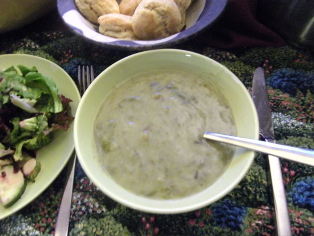 Potato Leek Soup and Spelt Flour Biscuits