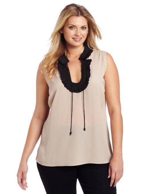 2efef1133d7b6 Amazon.com  Blusa Plus-Size de Anne Klein Mujeres