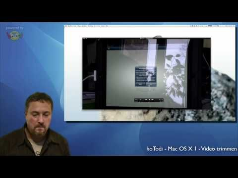 Trimmen von Audio- und Videodateien mit QuickTime unter Mac OS X