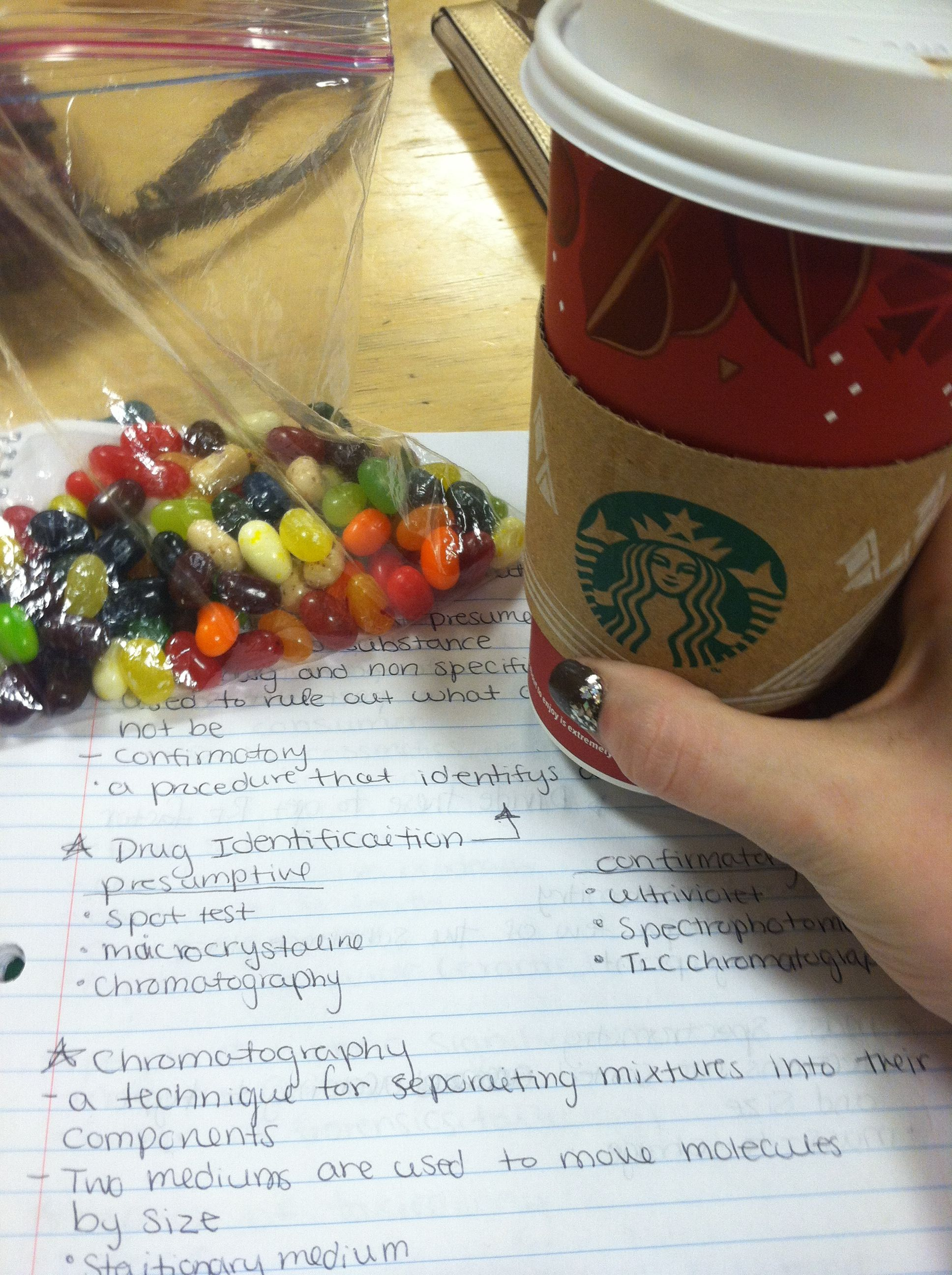 Jelly beans and coffee = perfect studying motivation