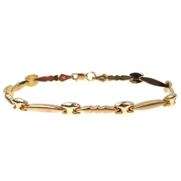 Fancy Puffy Link Bracelet Florentine Gold (1.120 NOK) ❤ liked on Polyvore featuring jewelry, bracelets, 14k gold bangles, gold bangles, gold jewellery, 14 karat gold bangles and polishing gold jewelry