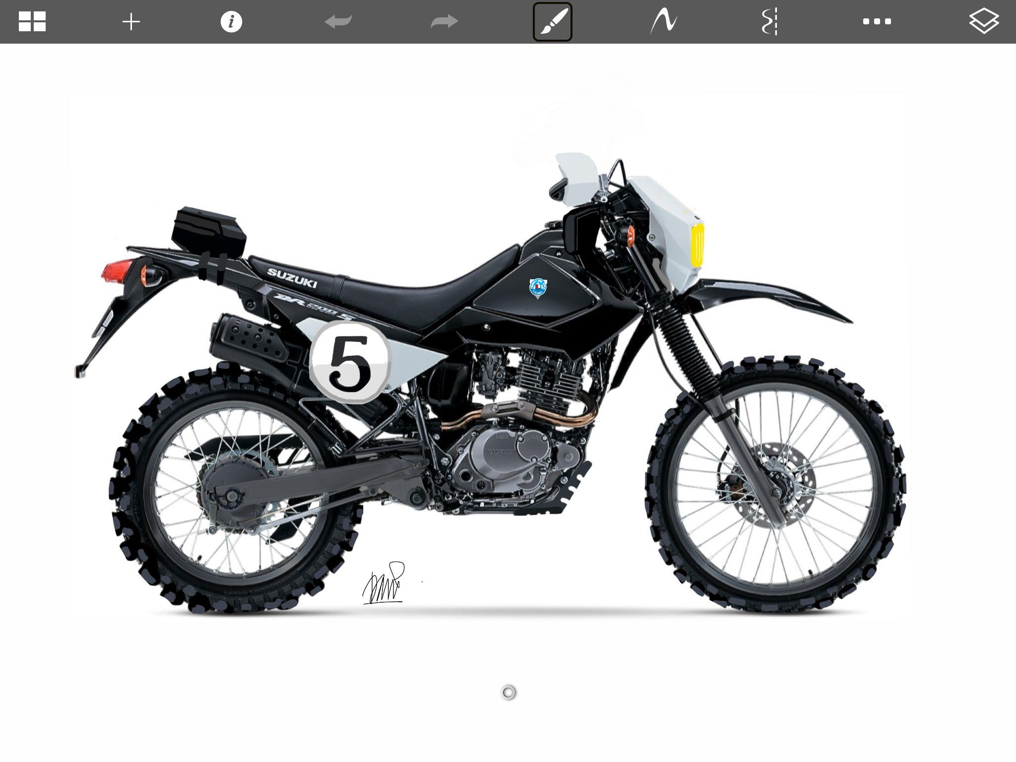 New Suzuki Dr200 2015 Custom made with sketchbook pro