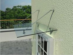 Stainless Steel Glass Awning Canopy For Entrance Door - Buy Awning ...