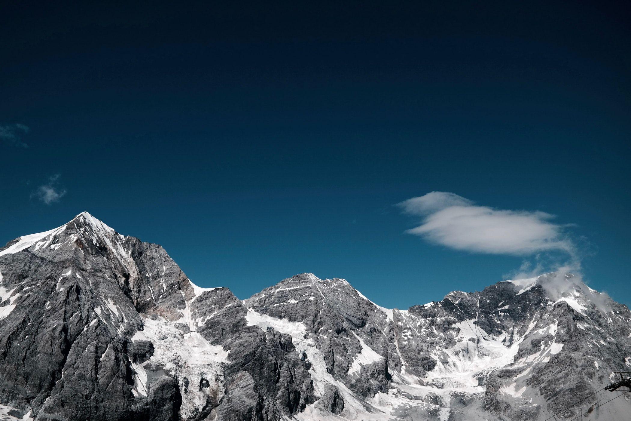 Peak, mountain peak, snow and mountains HD photo by Julian