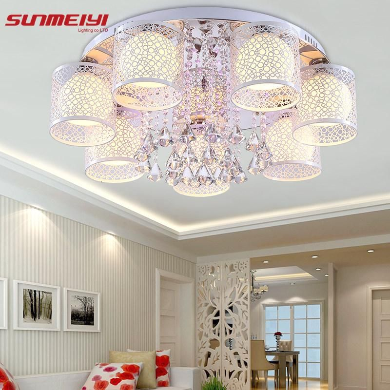 Lights & Lighting Ceiling Lights New Led Ceiling Lights Fixture Flowers Crystal Decor Plafonnier Led Living Room Bedroom Modern Home Lighting Luminaria Teto