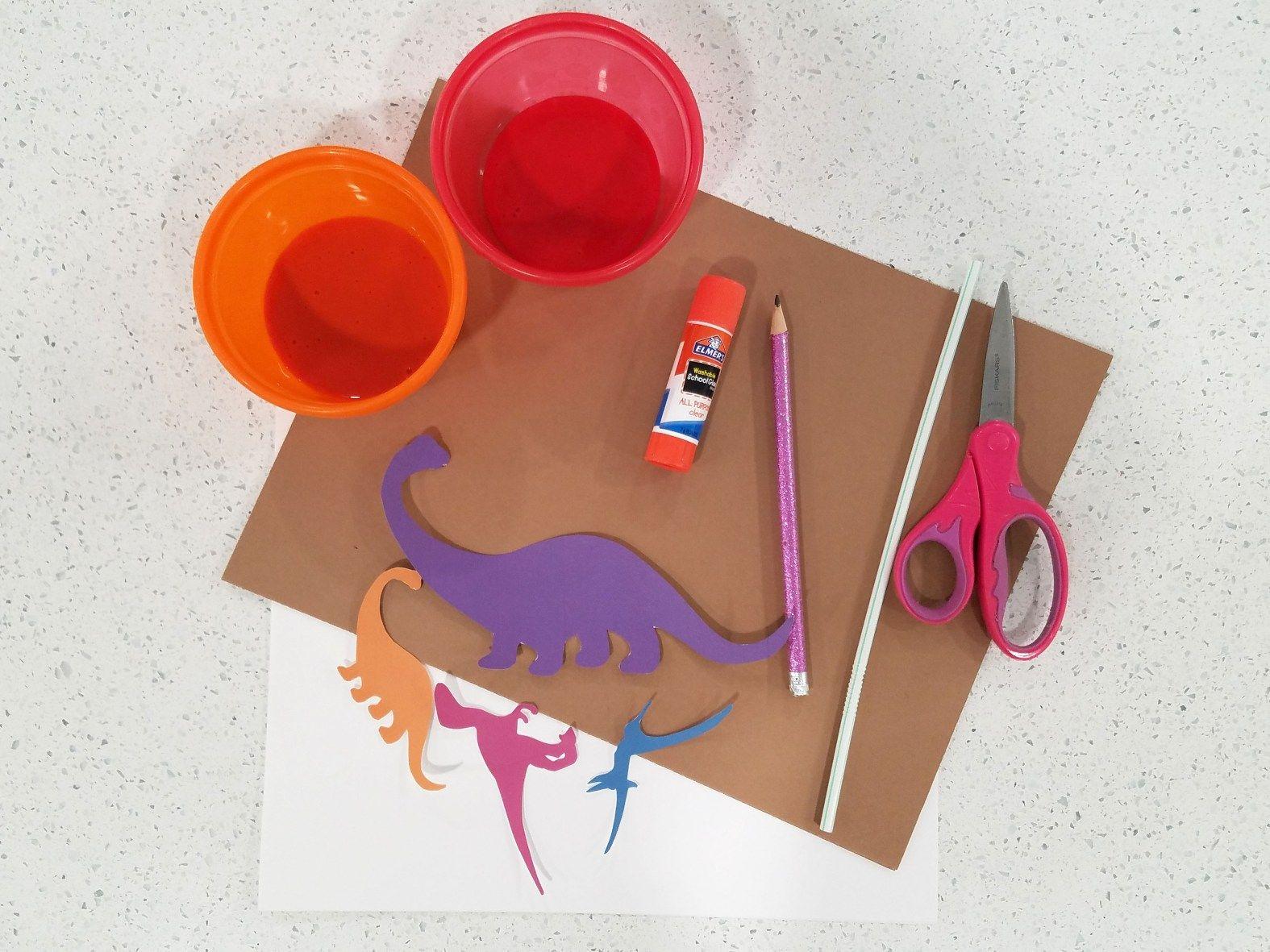 Volcano Blow Art For Your Dinosaur Theme
